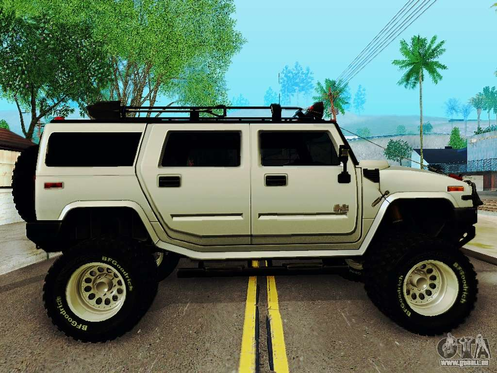 hummer h2 monster 4x4 pour gta san andreas. Black Bedroom Furniture Sets. Home Design Ideas