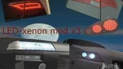LED-xenon mod v3.0 pour GTA San Andreas