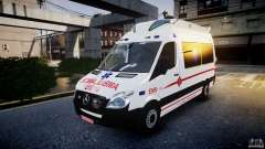 Mercedes-Benz Sprinter Iranian Ambulance [ELS] pour GTA 4