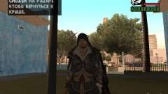 Ezio auditore dans l'armure d'Altair