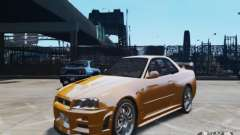 Nissan Skyline GT-R R34 Fast and Furious 4