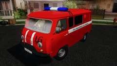 UAZ 3909 incendie