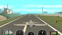 Instruments de l'air dans un avion