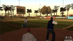 Animierte Baseballfeld