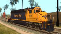 Locomotive SD 40 Santa Fe bleu/jaune