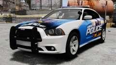 Dodge Charger 2013 Police Code 3 RX2700 v1.1 ELS für GTA 4