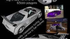 Cadillac Cien The SHARK DREAM Tuning pour GTA San Andreas