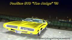 Pontiac GTO The Judge 1969 pour GTA Vice City