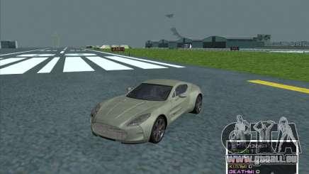 Aston Martin One 77 2011 pour GTA San Andreas