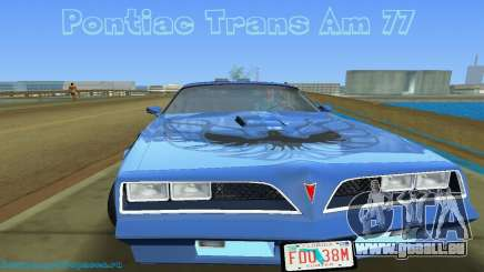 Pontiac Trans Am 77 pour GTA Vice City