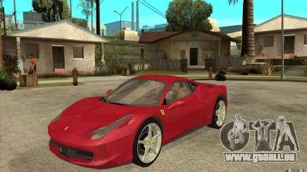 Ferrari F458 pour GTA San Andreas