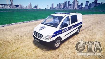 Mercedes Benz Viano Croatian police [ELS] für GTA 4