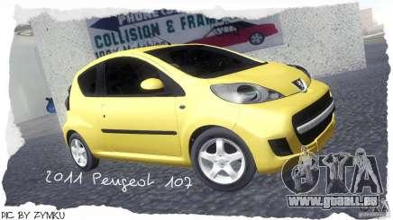 Peugeot 107 2011 pour GTA San Andreas