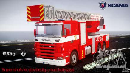 Scania R580 Fire ladder PK106 [ELS] pour GTA 4