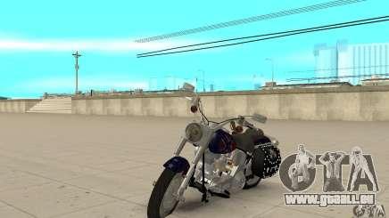 Harley Davidson FLSTF (Fat Boy) v2.0 Skin 4 für GTA San Andreas