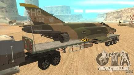 Flatbed trailer with dismantled F-4E Phantom pour GTA San Andreas