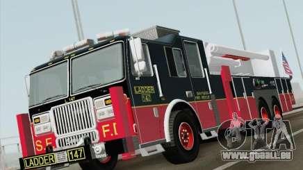 Seagrave Marauder II. SFFD Ladder 147 pour GTA San Andreas