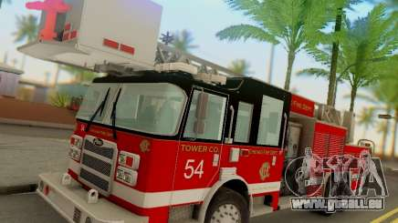 Pierce Tower Ladder 54 Chicago Fire Department für GTA San Andreas