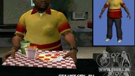 Nouvelle pizza du vendeur pour GTA San Andreas