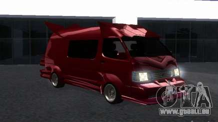Toyota Hiace Vanning pour GTA San Andreas