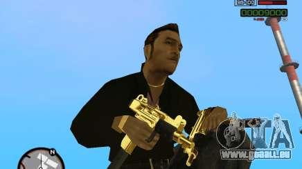 Micro Uzi Gold pour GTA San Andreas