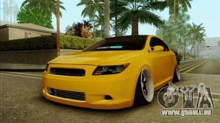 Scion tC 2012 jaune pour GTA San Andreas