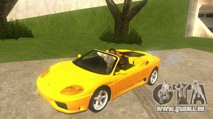 Ferrari 360 Spider jaune pour GTA San Andreas