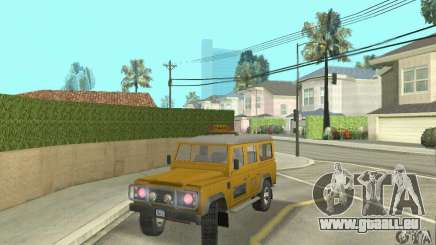 Land Rover Defender 110SW Taxi pour GTA San Andreas