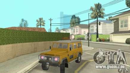 Land Rover Defender 110SW Taxi für GTA San Andreas
