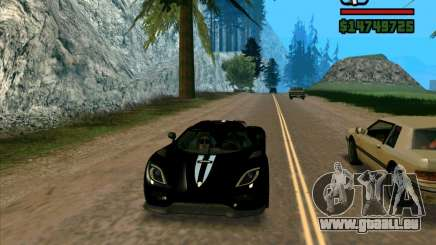 Koenigsegg Agera für GTA San Andreas