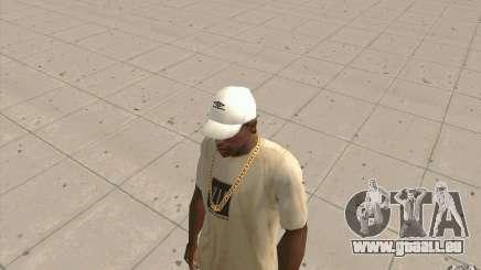 Umbro Cap weiss für GTA San Andreas