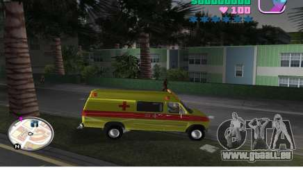 Ford Econoline E350 Ambulance pour GTA Vice City