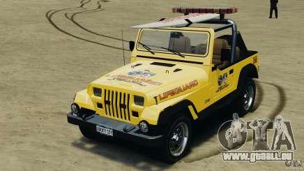 Jeep Wrangler 1988 Beach Patrol v1.1 [ELS] pour GTA 4