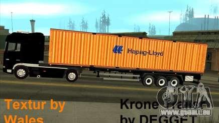 Krone Trailer Hapag-LLoyd pour GTA San Andreas