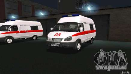 Ambulance Gazelle 22172 pour GTA San Andreas