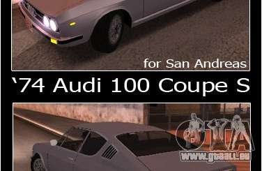 Audi 100 Coupe S 1974 pour GTA San Andreas
