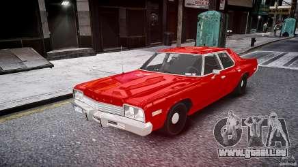 Dodge Monaco 1974 stok rims pour GTA 4