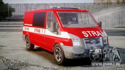 Ford Transit Polish Firetruck [ELS] pour GTA 4