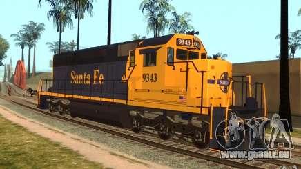 Locomotive SD 40 Santa Fe bleu/jaune pour GTA San Andreas