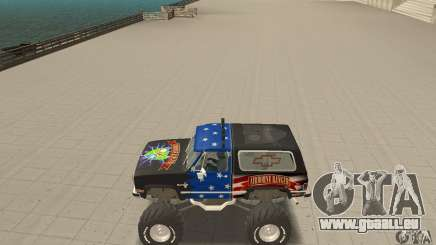 Chevrolet Blazer K5 Monster Skin 3 pour GTA San Andreas
