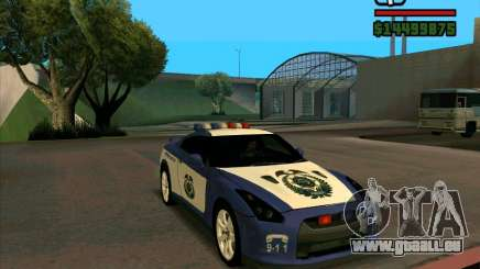 Nissan GTR35 Police Undercover pour GTA San Andreas