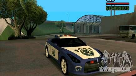 Nissan GTR35 Police Undercover für GTA San Andreas