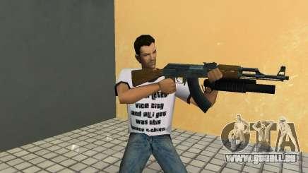 AK-47 mit einem Grenade Launcher М203 für GTA Vice City