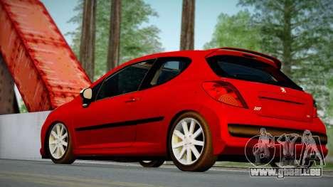 Peugeot 207 pour GTA San Andreas laissé vue