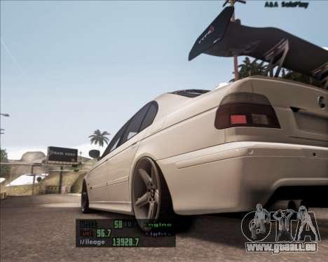 BMW M5 E39 Stanced für GTA San Andreas zurück linke Ansicht