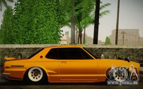 Nissan Skyline 2000GT-R Hoon für GTA San Andreas rechten Ansicht