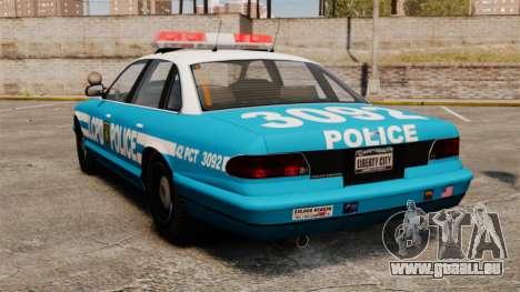 LCPD Police Cruiser pour GTA 4 Vue arrière de la gauche