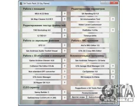 Sammlung Programme für GTA San Andreas