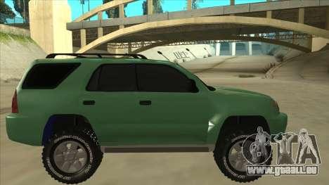 Toyota 4Runner 2009 v2 pour GTA San Andreas sur la vue arrière gauche