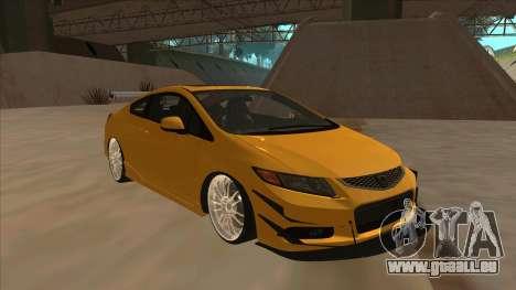 Honda Civic SI 2012 pour GTA San Andreas laissé vue